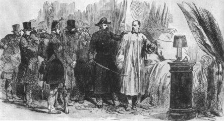 L'arrestation du général Changarnier (gravure de L'Illustrated London News, 13 décembre 1851)