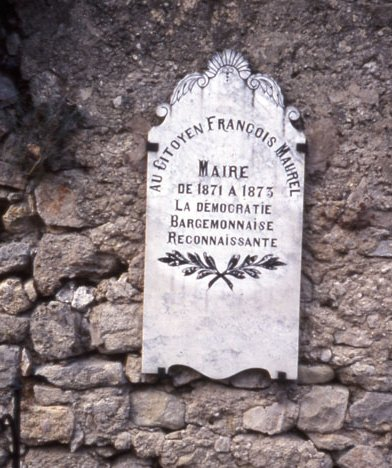 La tombe de François Mauren au cimetière de Bargemon (photo Jean-Marie Guillon)
