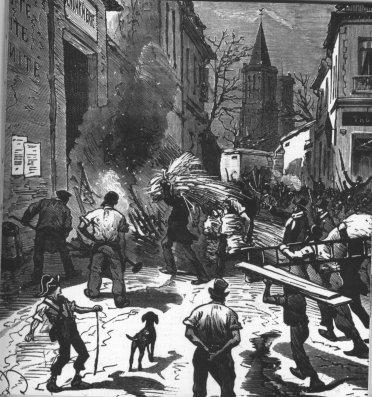 L'incendie de la gendarmerie de Bédarieux, extrait de L'Histoire illustrée du Second Empire, de Taxile Delord, 1892