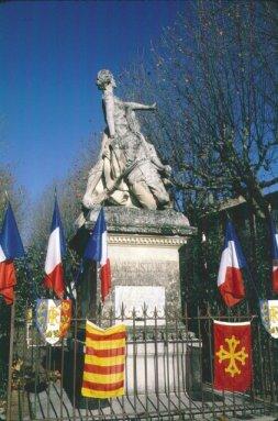 Monument à Martin Bidouré, Barjols, commémoration de décembre 1987 par le mouvement occitan et la municipalité, photo JM Guillon