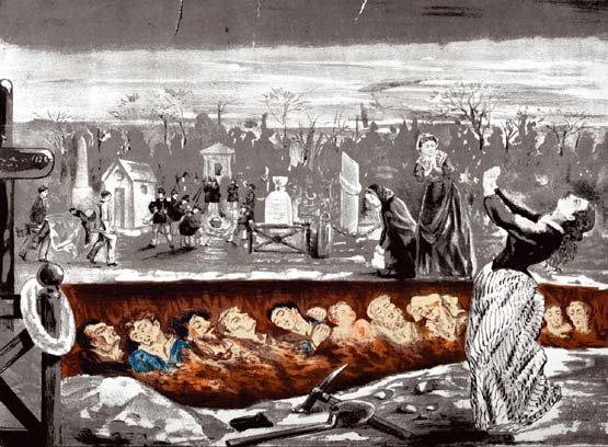 Le cimetière de Montmartre le 4 décembre 1851 ; Anonyme, Paris, musée Carnavalet