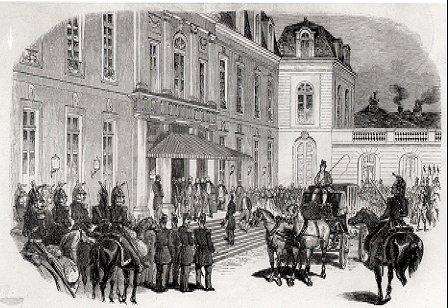 Arrivée à l'Elysée de Louis Napoléon Bonaparte le 20 decembre 1848 (Mairie de Paris - Direction des affaires culturelles - Photothèque des musées de la ville de Paris. Cliché : Degraces)