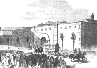 La prison de Mazas, dessin publié dans l'Illustrated London News du 6 décembre 1851