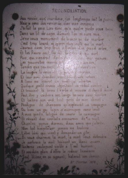 Poème de Barthélémy Terrier