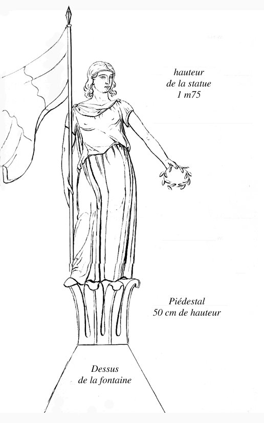 La marianne de cuers association 1851 - Dessin marianne ...